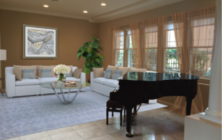 Before and after virtual home staging