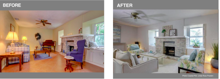Before and after staging examples