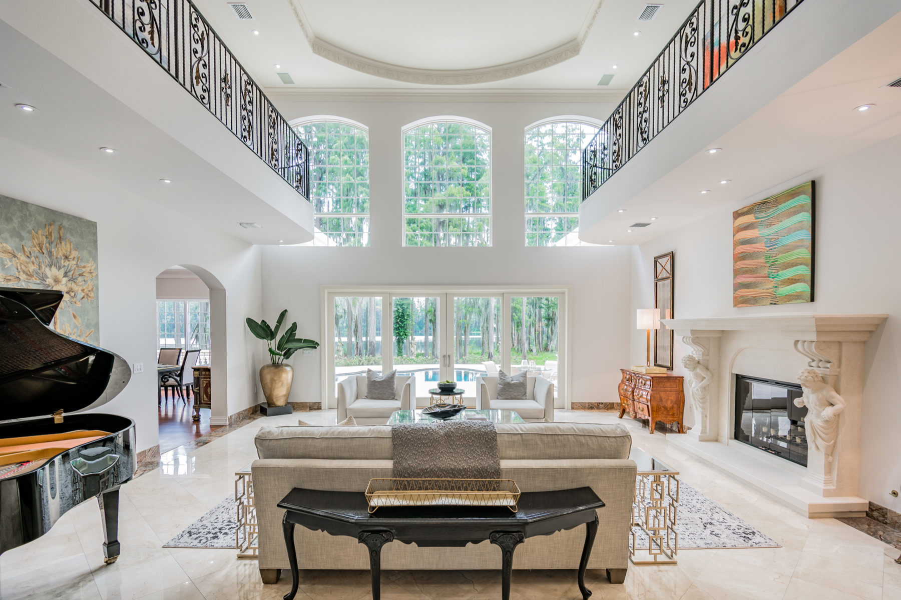 Luxury mansion staging