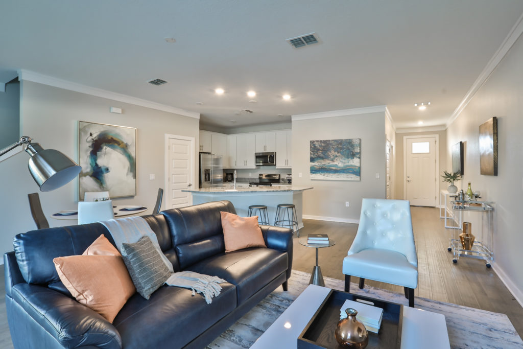 Townhome staging