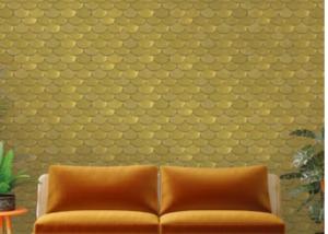 Brass removable wallpaper