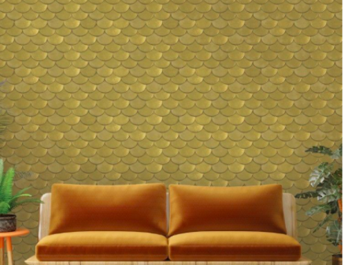 Tempaper® wall covering BRASS BELLY
