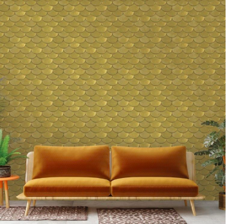 Brass removable wallpaper