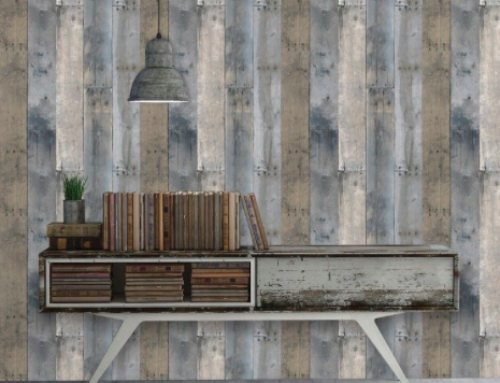Tempaper® wall covering REPURPOSED WOOD