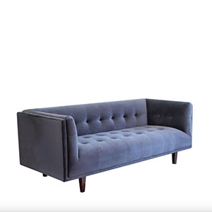 Charcoal grey velvet chesterfield sofa