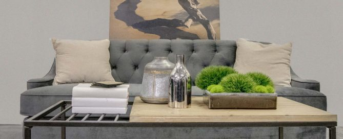 Staging a coffee table