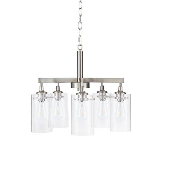 5 glass shade chandelier