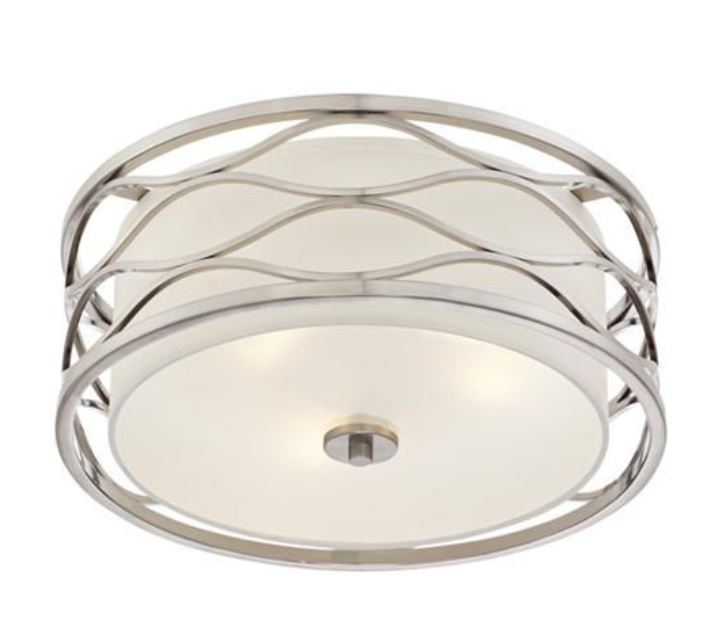 Brushed nickel ceiling light