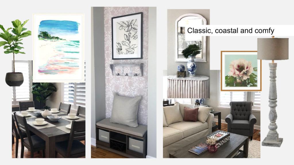Coastal, classic home decor examples