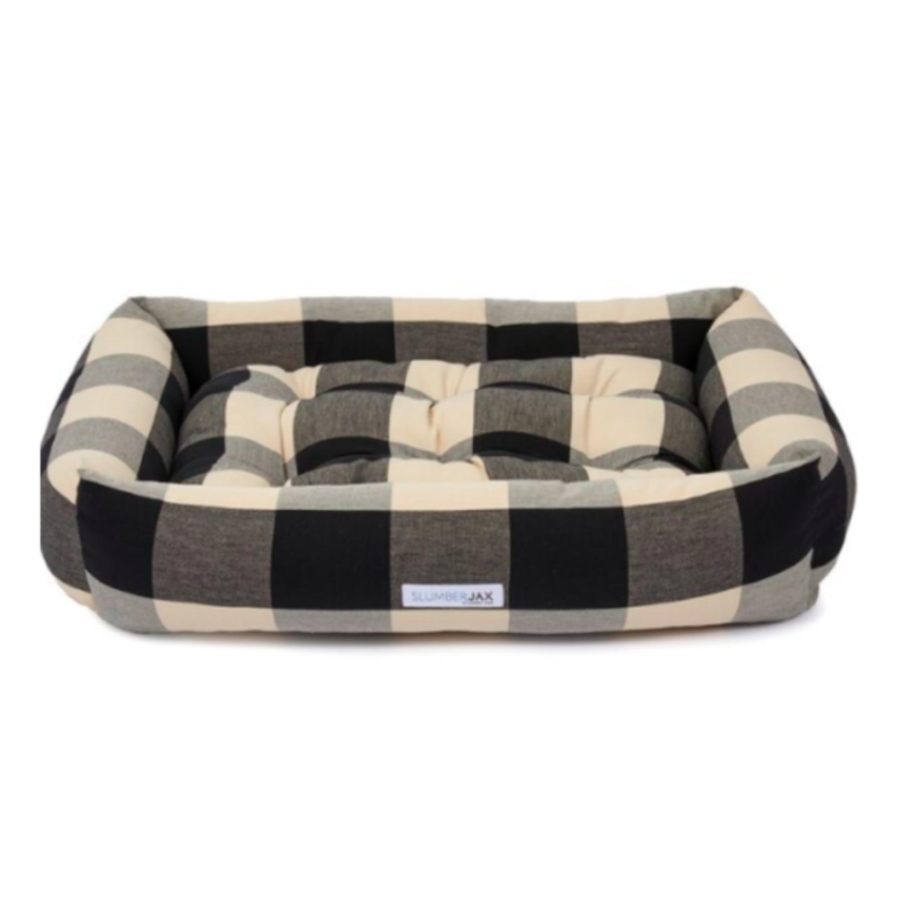 Buffalo check black and white dog bed