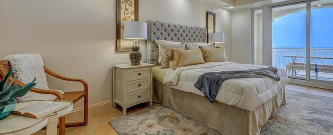 Master bedroom staging success photo