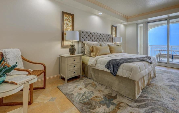 Master bedroom staging photo