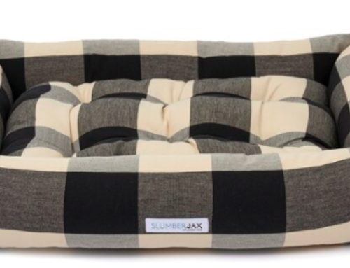 Buffalo check black and white dog bed