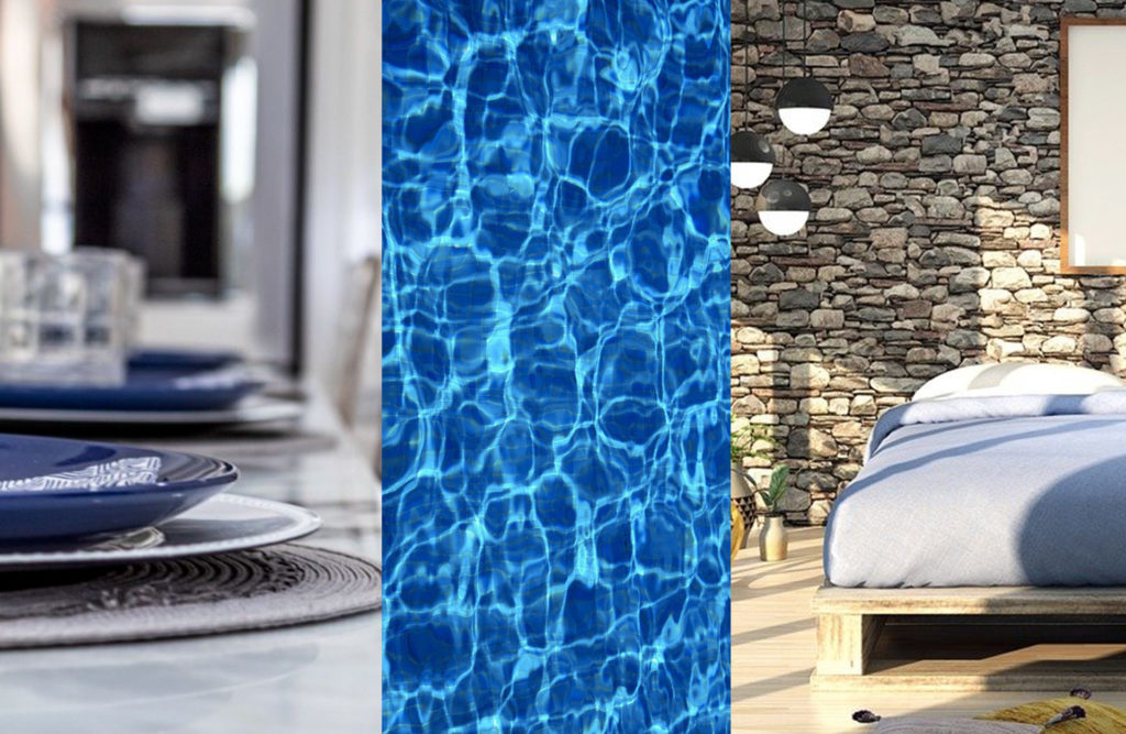 Hues of blue home decor