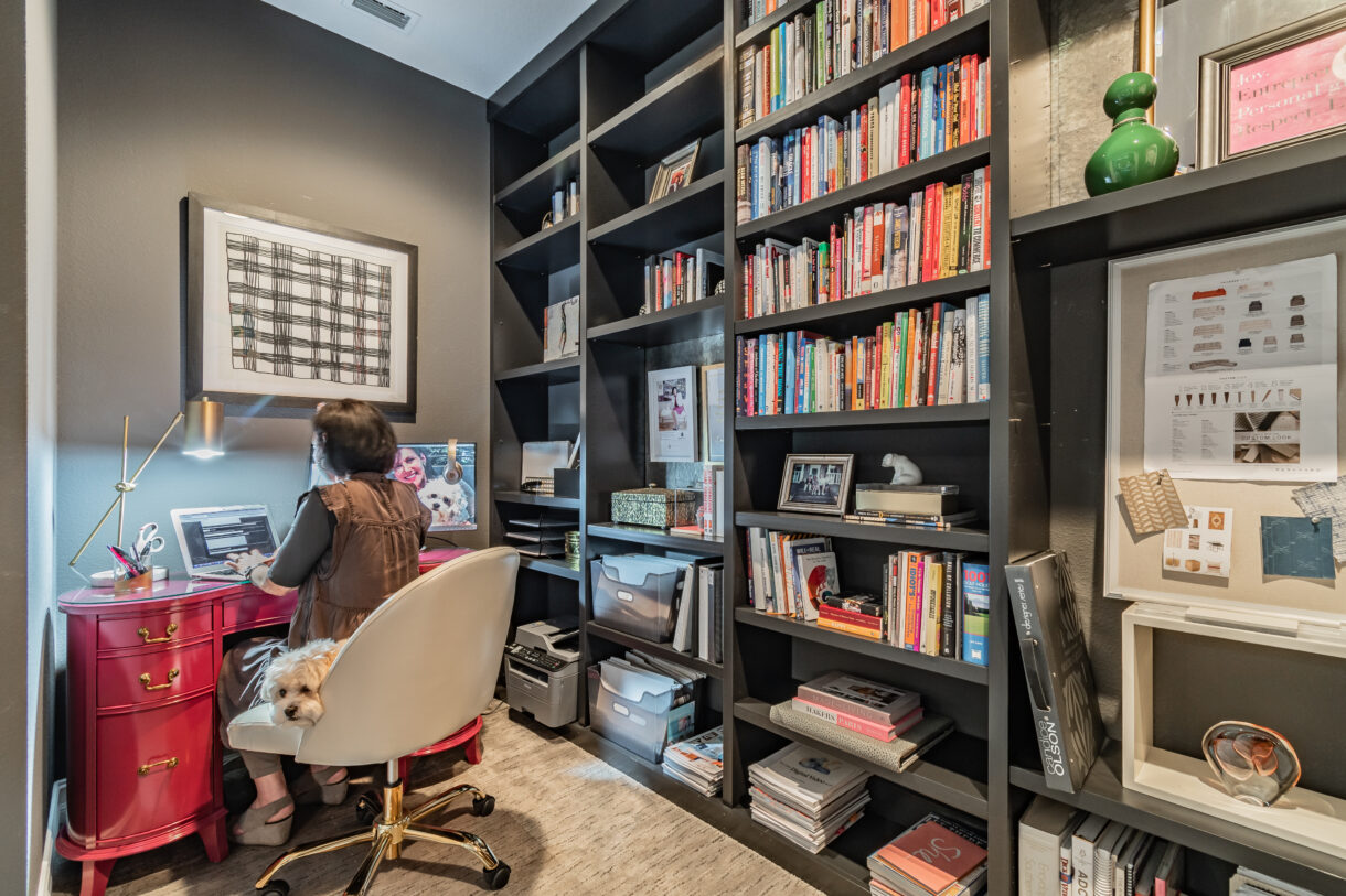 Re-purpose a library into home office