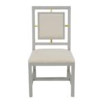 Elegant white dining chair