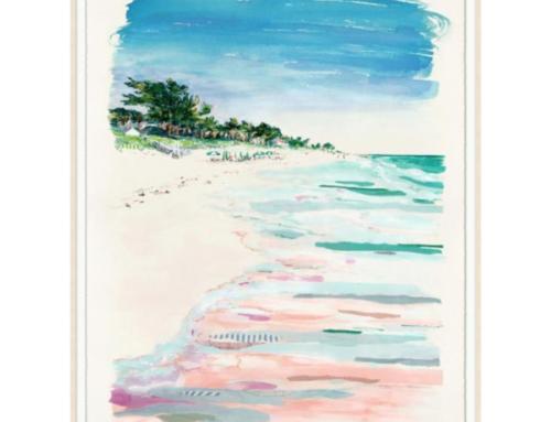 Pastel coastal art