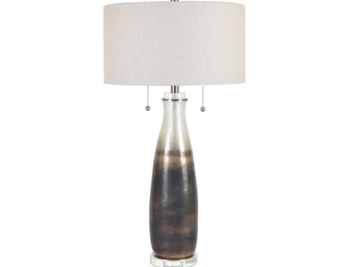 Glass & crystal table lamp