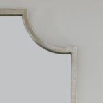 Zeugma silver wall mirror