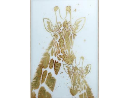 Glass giraffe art