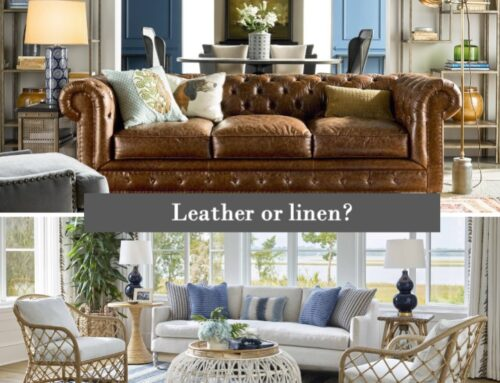 Leather or linen?