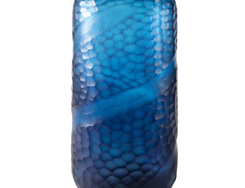 Blue swoop vase