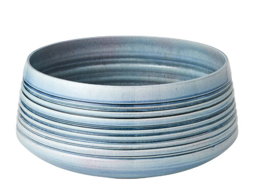 Blue stacked rings bowl