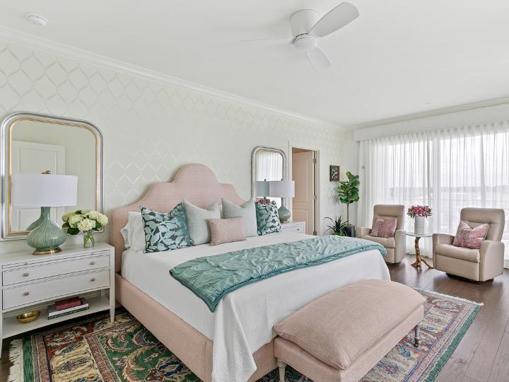 Bellair Florida high-rise, Transitional interior design, Top interior designers Tampa, Home decorators Tampa